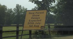 New Forest Show sign