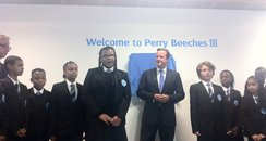 David Cameron at Perry Beeches