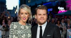 James Corden and Julia Carey on the red carpet