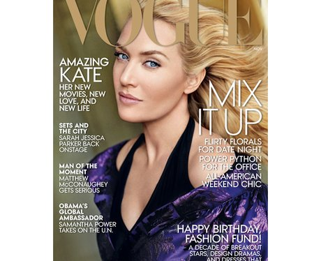 Kate Winslet covers Vogue Magazine