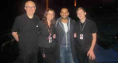Michael With The Cinema Team