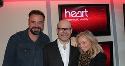 Harry Hill with Jamie and Emma