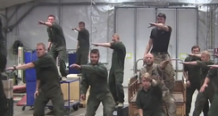 Swedish Marines in green outfits