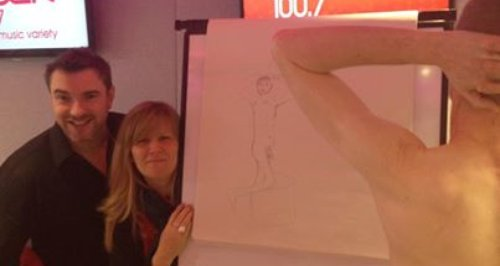 life drawing model and drawing and presenters