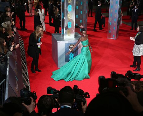 Lupita Nyong'o in a green dress