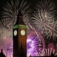 London New Year Big Ben fireworks