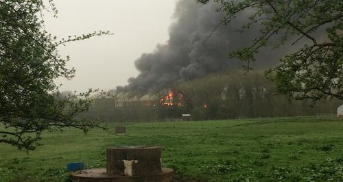 Wellingborough Industrial Estate Fire