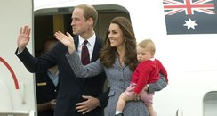 Kate Middlton, Prince William and Prince George bo