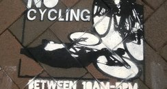 Gloucester No Cycling Stencil