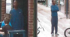 teenager on CCTV suspected of knife threat
