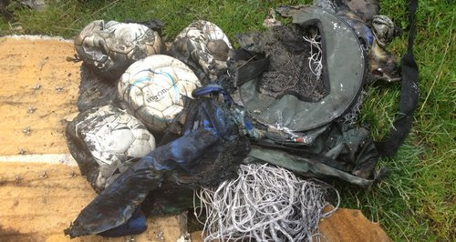 Equipment melted in arson attack