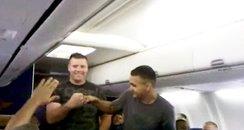 US Marine Sings On A Plane