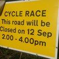 Tour Of Britain Road Sign