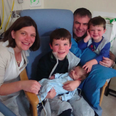 A family in hospital