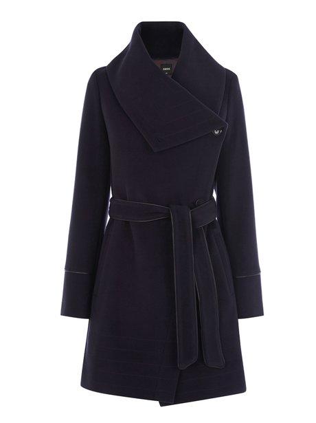 Oasis Stitch Detail Formal Drape Coat