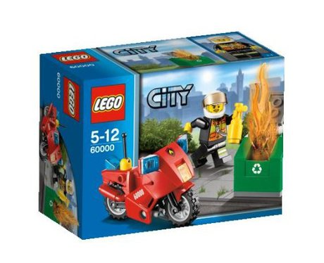 Lego City 60000: Fire Motorcycle, £4.99