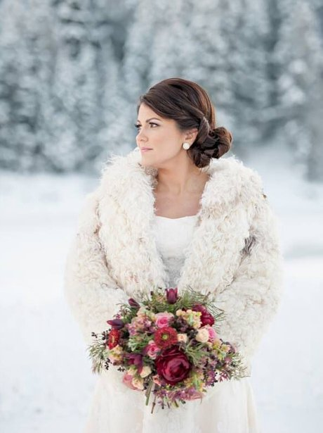 A bride in the snow