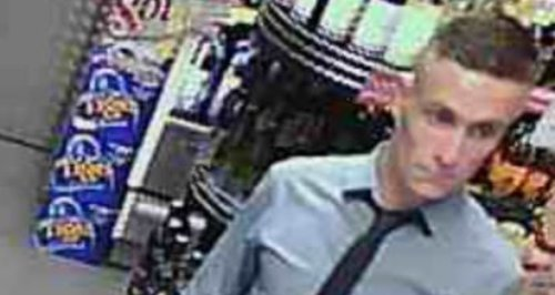 CCTV of suspect using fake £50 notes in Cinderford