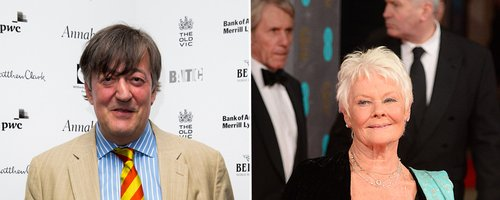 Stephen Fry and Judi Dench Canvas