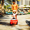 Marvin Humes playing with his daughter