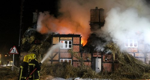 Sopley Hampshire thatch fire