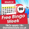 Free Bingo March