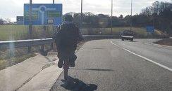 M1 Motorway Cyclist