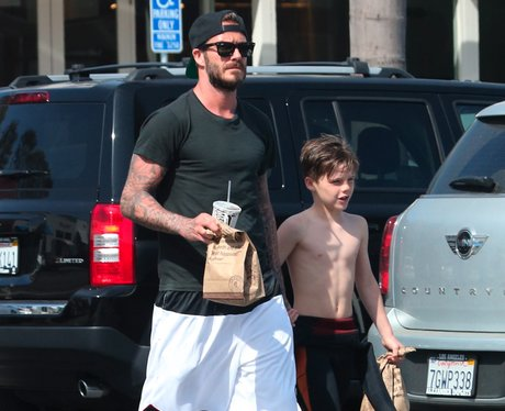 David Beckham and son Cruz