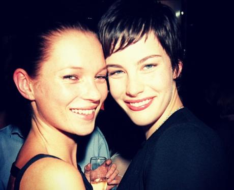 Kate Moss and Liv Tyler by Dave Benett, 1998