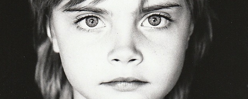 Cara Delevingne as a child