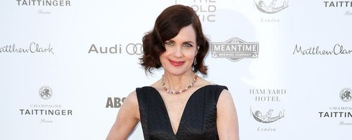 Elizabeth McGovern in a black dress
