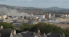 Fire at flat on Weston super Mare seafront
