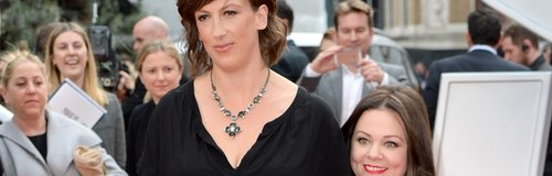Miranda Hart and Melissa McCarthy at the London pr