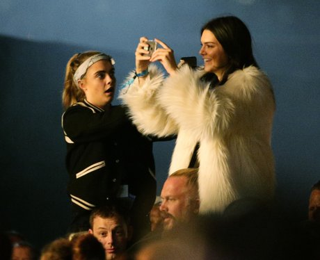 Cara Delevingne and Kendall Jenner at Glastonbury