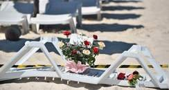 Flowers on Tunisian beach