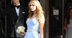 Paris Hilton attends Nicky Hilton wedding