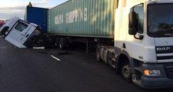 A14 Crash lorries