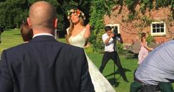 Jacqui Ainsley wedding day