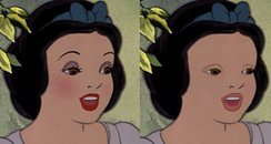 Snow White with and without makeup canvas