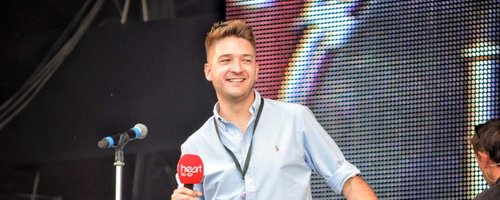 Heart's Luke Smith on stage at Rewind Festival