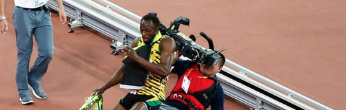 usain bolt camera man