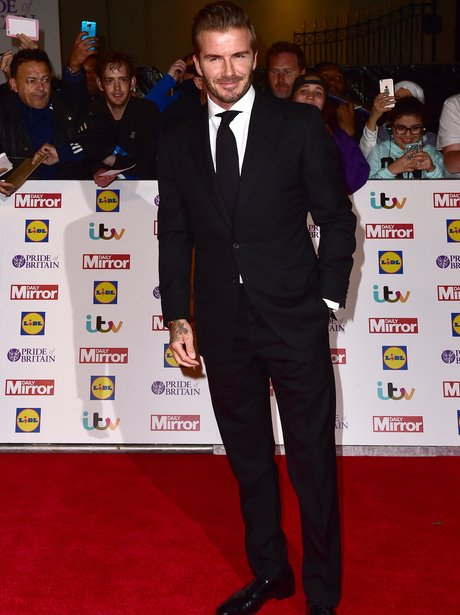 David Beckham Pride of Britain 2015 PA
