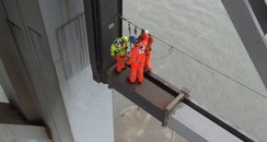 Engineers inspect fault on Forth Road Bridge