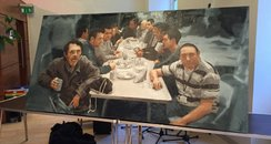 Homeless men depicted in last supper painting