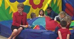 First Minister visits kids at Edinburgh Nursery
