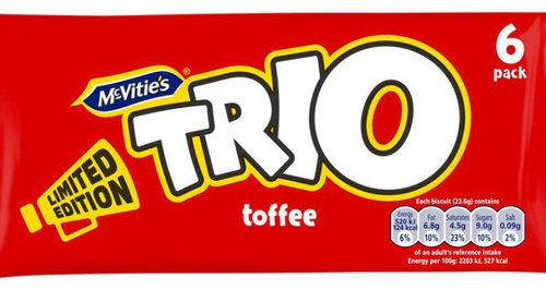 trio chocolate bars