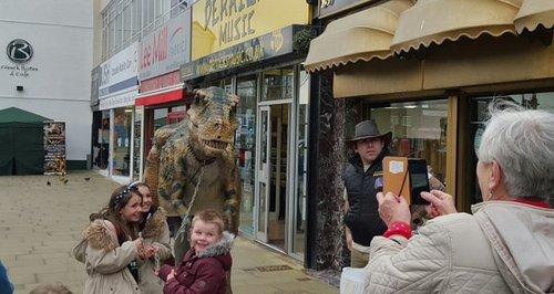 Dinosaur in Swansea
