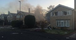 haxby house explosion near York. Picture by @Uncle