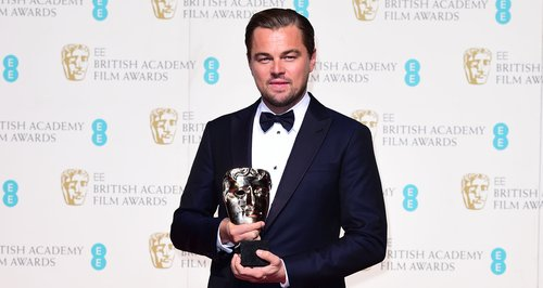 Leonardo DiCaprio at the Bafta Awards 2016