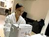 Victoria Beckham sewing